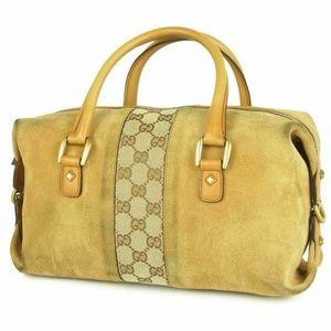 Authentic Gucci Boston Suede Tote